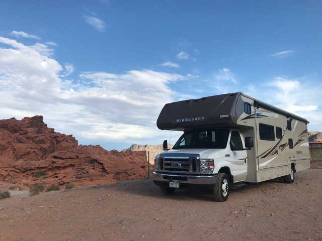 Our RV in the Valley of Fire, Nevada