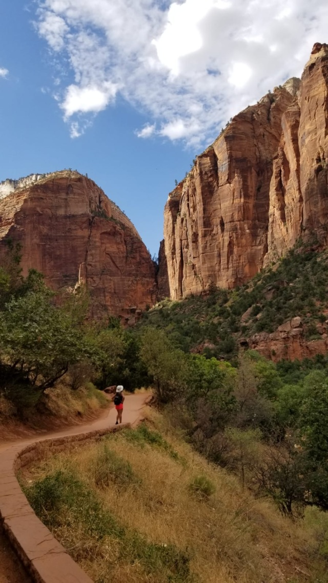 Zion National Park heading to Emerald Pool trail