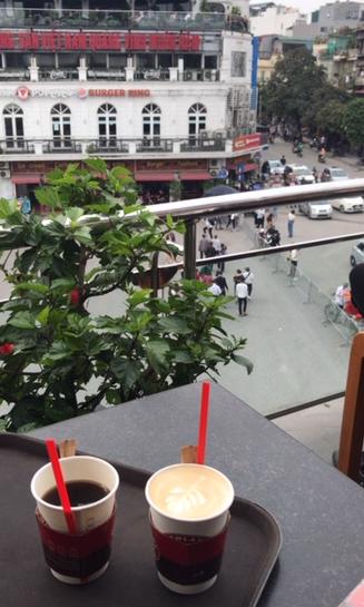 Highands Coffee terrasse - Hanoi