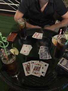 Cards game in Doris Cruise