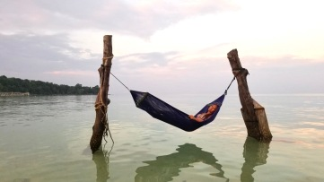 Hammock on the water in Koh Rong